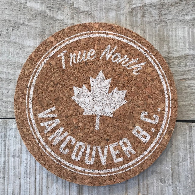 Vancouver Maple Logo Cork Coaster Set