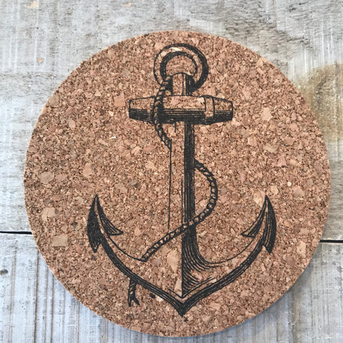 Anchor Cork Coaster Set