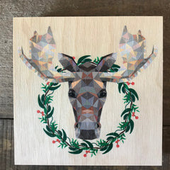 Geometric Moose with Wreath