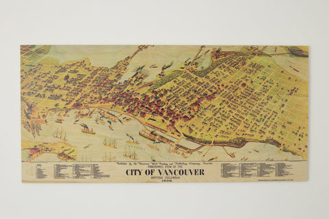 1898 Vintage Vancouver Map
