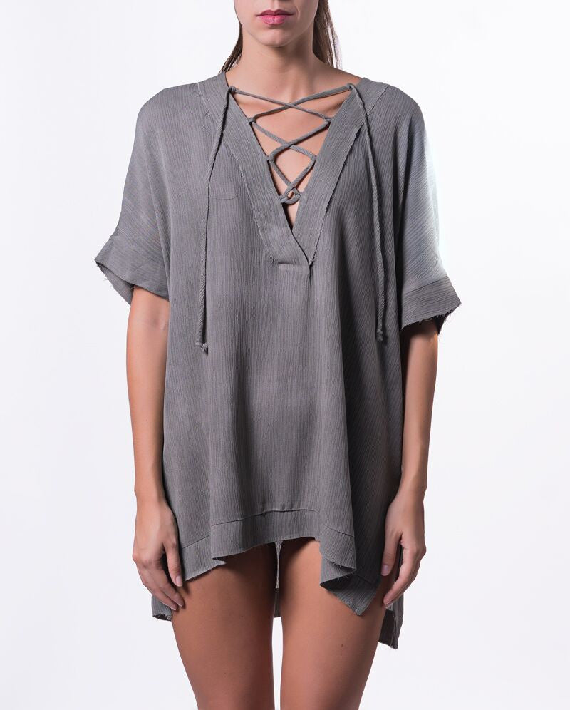 Lace Me Up Shirt/Dress