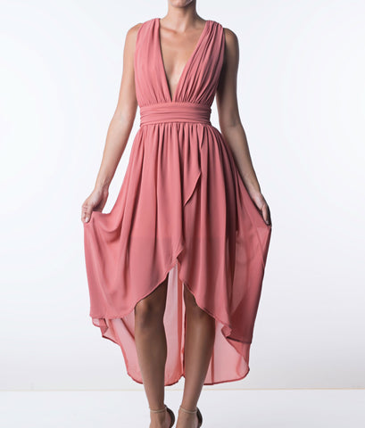You're Making Me Blush High-Low Dress