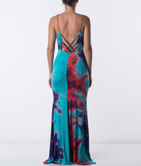 Hippies in Spaghetti Straps Maxi Dress