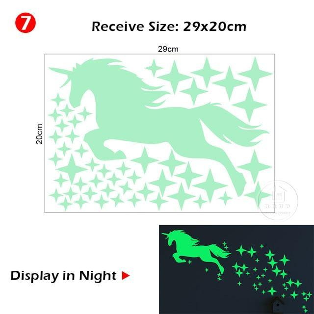 Luminous horse wall Sticker for children/'s room home decor glow in the dark
