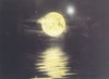 Moon over Water on Canavas - illumainated painting