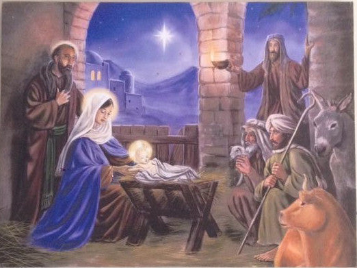 Nativity On Canvas - Illuminated Painting