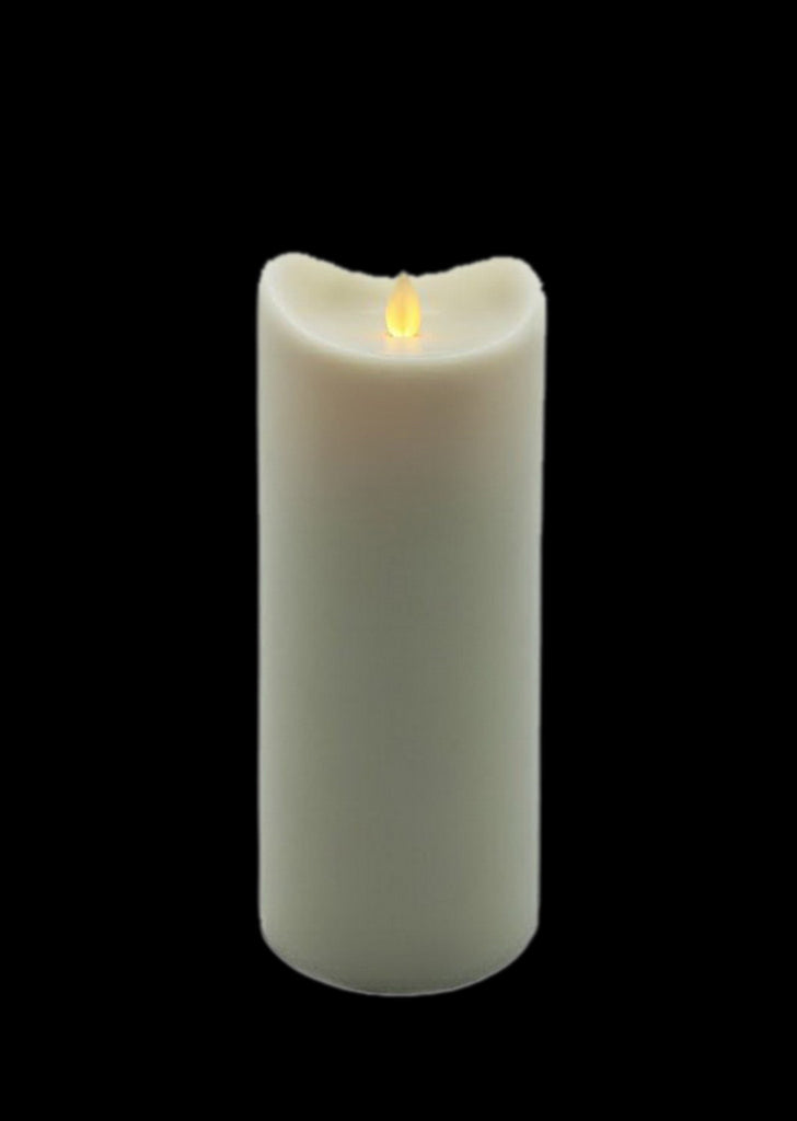 Flameless Candle 9 Inch Outdoor with Timer 2D Batteries Operated