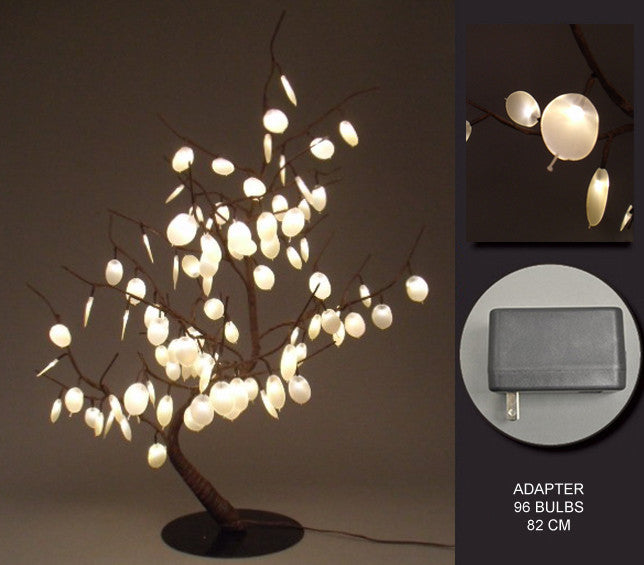 FLORAL LIGHTS-SILVER DOLLAR BONSAI TREE AC-96LED