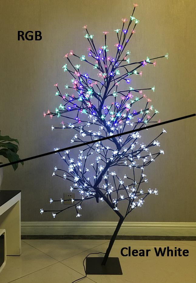 Dual LED Light Cherry Blossom Tree -  Clear White and RGB LED