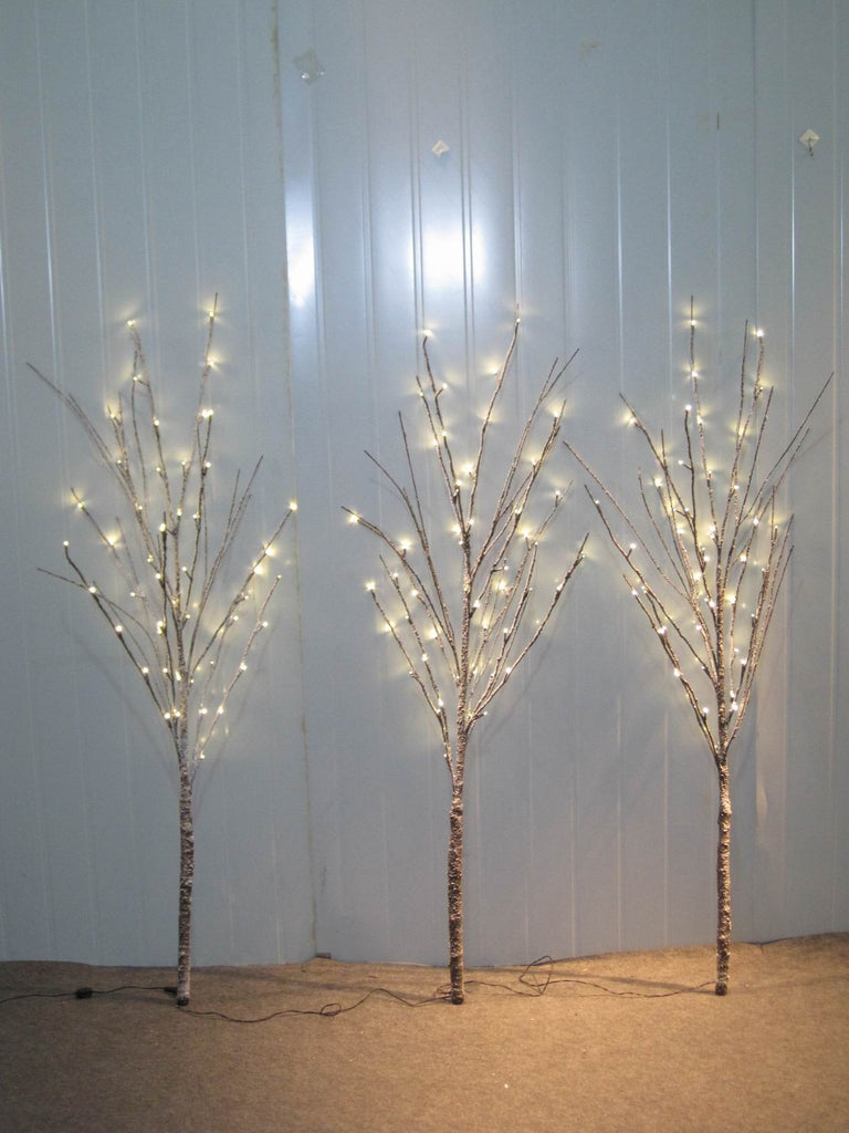 TREE X 3 W/SNOW 150LED INDOOR ONLY BROWN CABLE 57 INCH