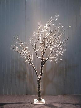 BIRCH TREES 120 LED INDOOR ONLY WHITE CABLE