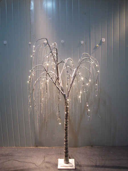 Brown Willow Tree with Snow-Warm White 84 LED