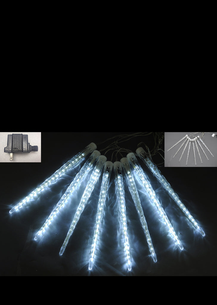 White LED Icicle Lights 50cm