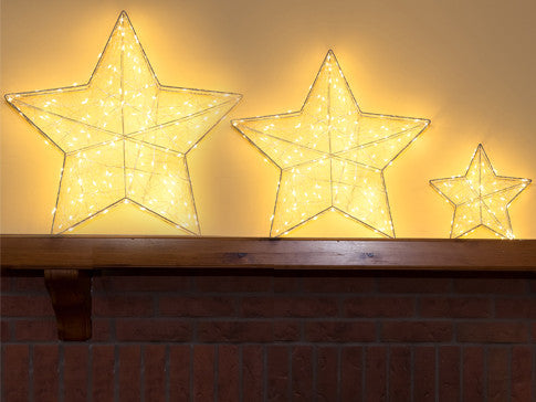 Sparkling 3D Star With LED Lights - 3 sizes
