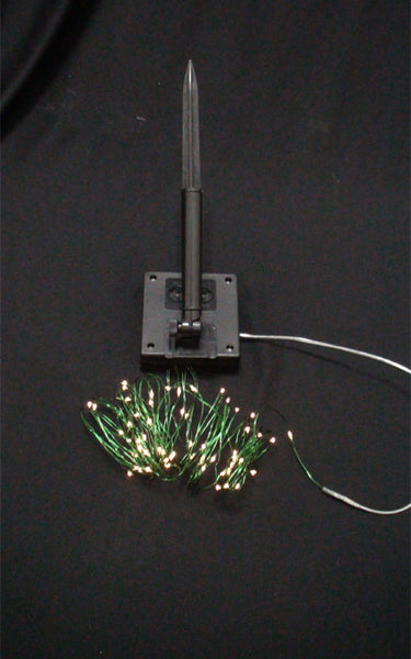 Solar Fairy Lights - Warm White LED - Green Wire 12 Feet
