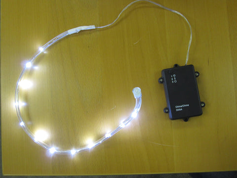 Rope Light - White 18 LEDs Outdoor Battery