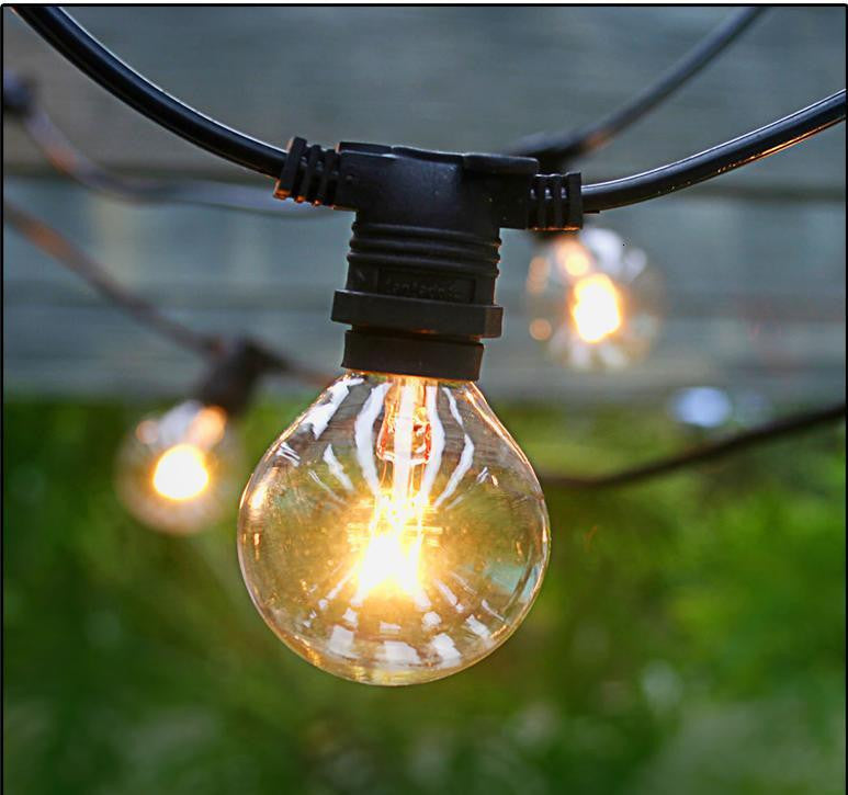 Vintage Patio Lights With Edison Light Bulbs   Style 1