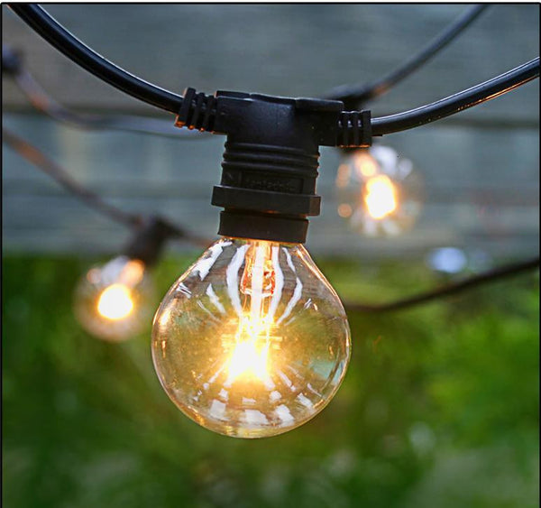 Vintage Patio Lights with Edison Light Bulbs - Style 1