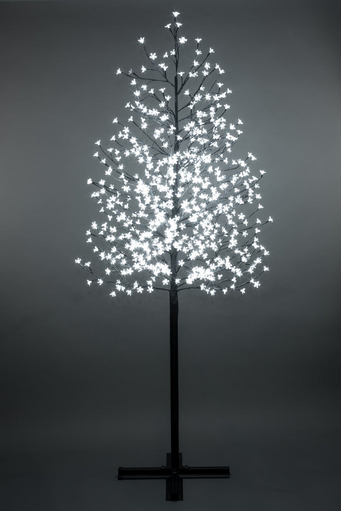 Outdoor Cherry Blossom Tree with 576 White LED Lights