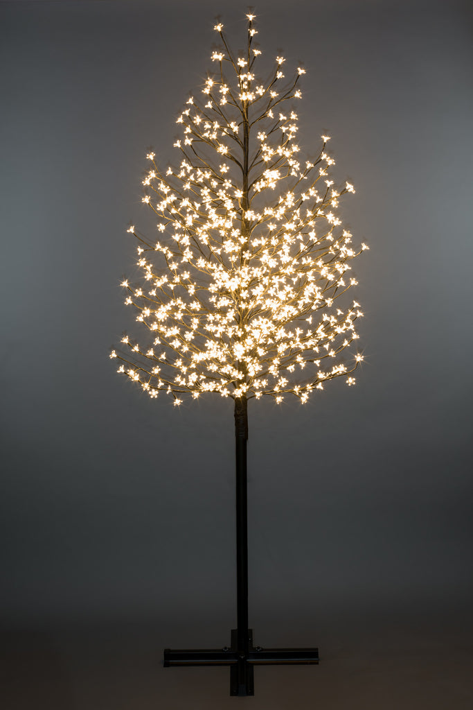 Outdoor Cerry Blossom Tree with 576 Warm White LED Lights