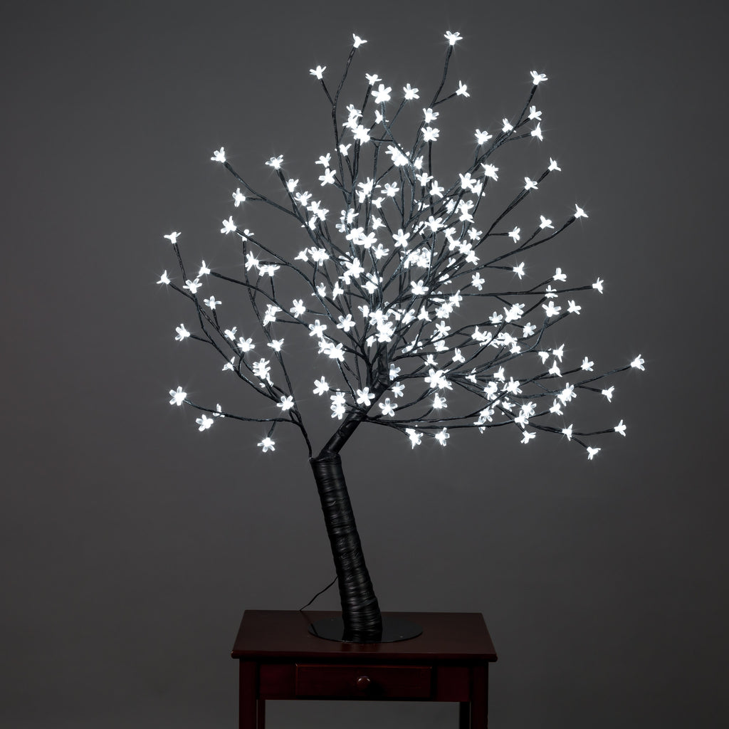 Outdoor Cherry Blossom Tree with 200 White LED Lights