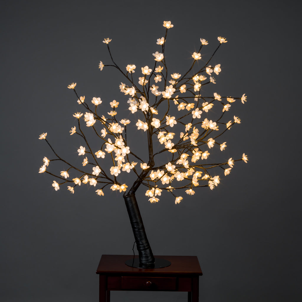 Outdoor Cherry Blossom Tree with 160 Warm White LED Lights