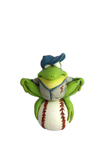 Frog Baseball Player Figurine by Warren Stratford