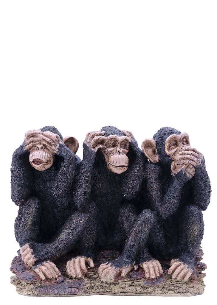 Three Monkeys See, Speak, Hear No Evil Statue