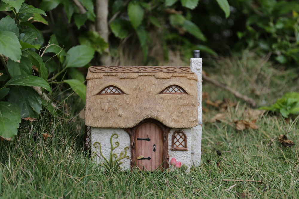 Fairy Garden Cottage with Thatched Roof