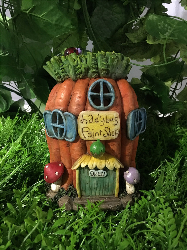Fairy Garden-Carrot House - Battery Operated