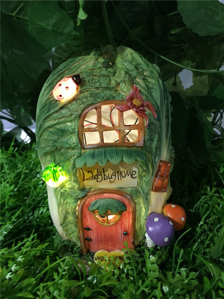 Fairy Garden-Cabbage House - Battery Operated