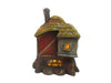 Fairy Garden-Thatched Roof Red Barn with LED, Battery Operated