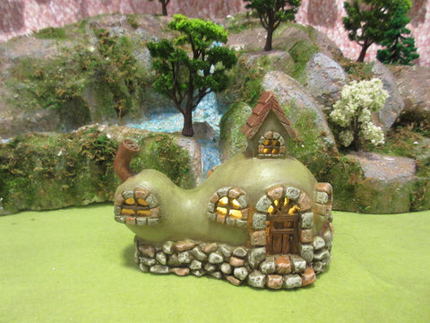 Set of 2PCS Fairy Garden-Pear House with Stone with LED, Battery Operated