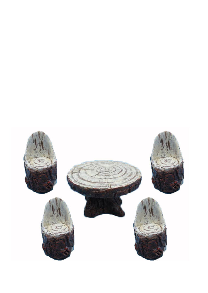 Fairy Garden Wooden Table with 4 Chairs