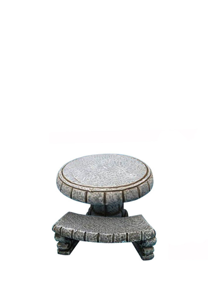 Fairy Garden Stone Table with 3 Benches
