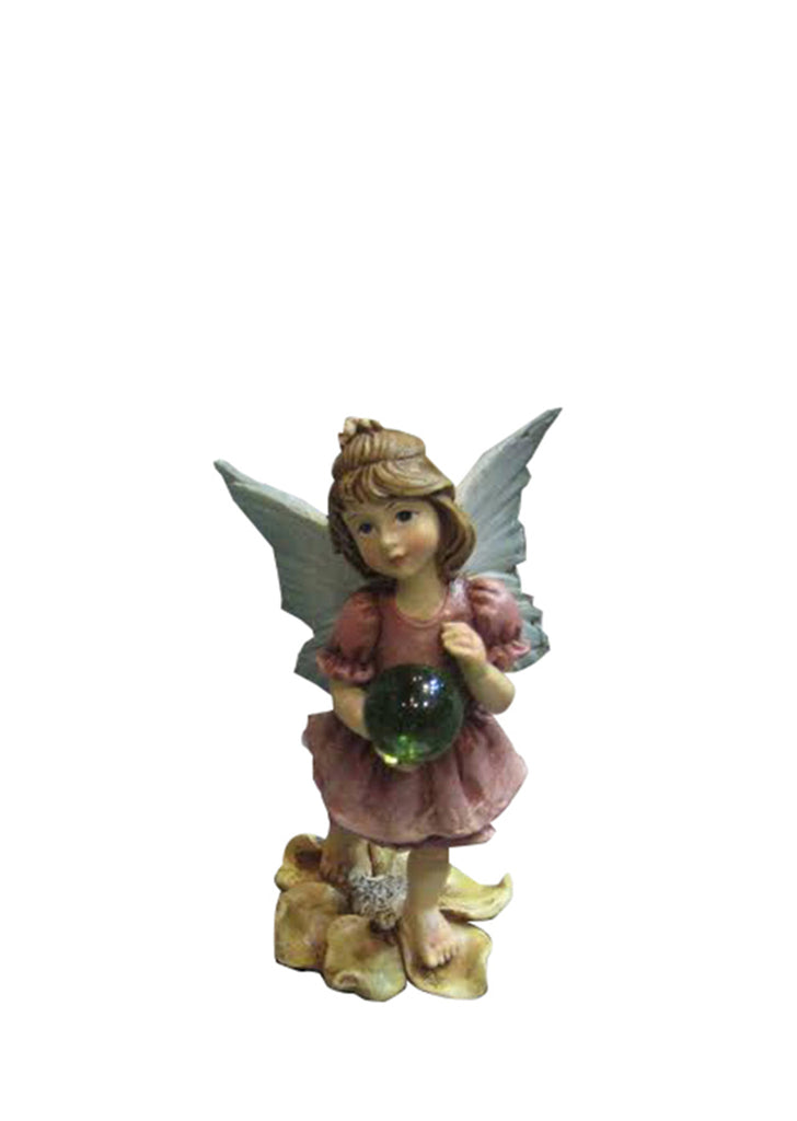 Fairy Garden Girl Standing on a Flower