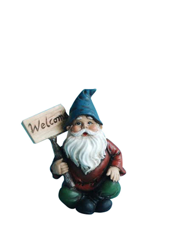 Fairy Garden Gnome with Welcome Sign