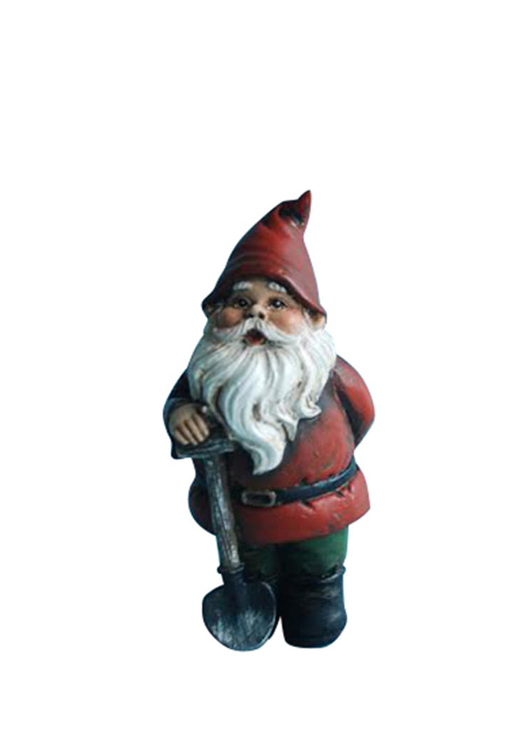 Fairy Garden Gnome with a Shovel
