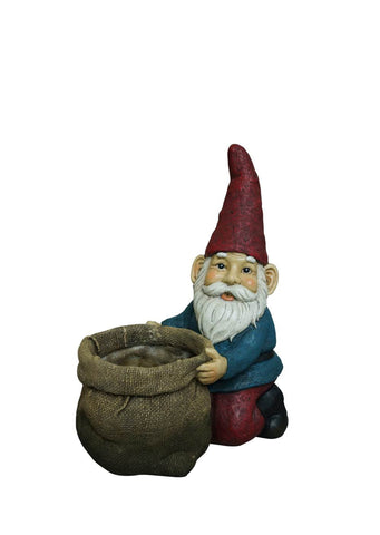 Gnome Kneeling with Planter