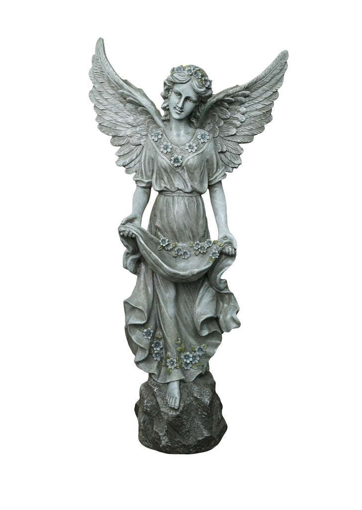 Angel Garden Statue with Open Wings