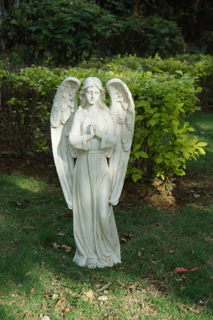 Standing Angel in Polished Stone Finish
