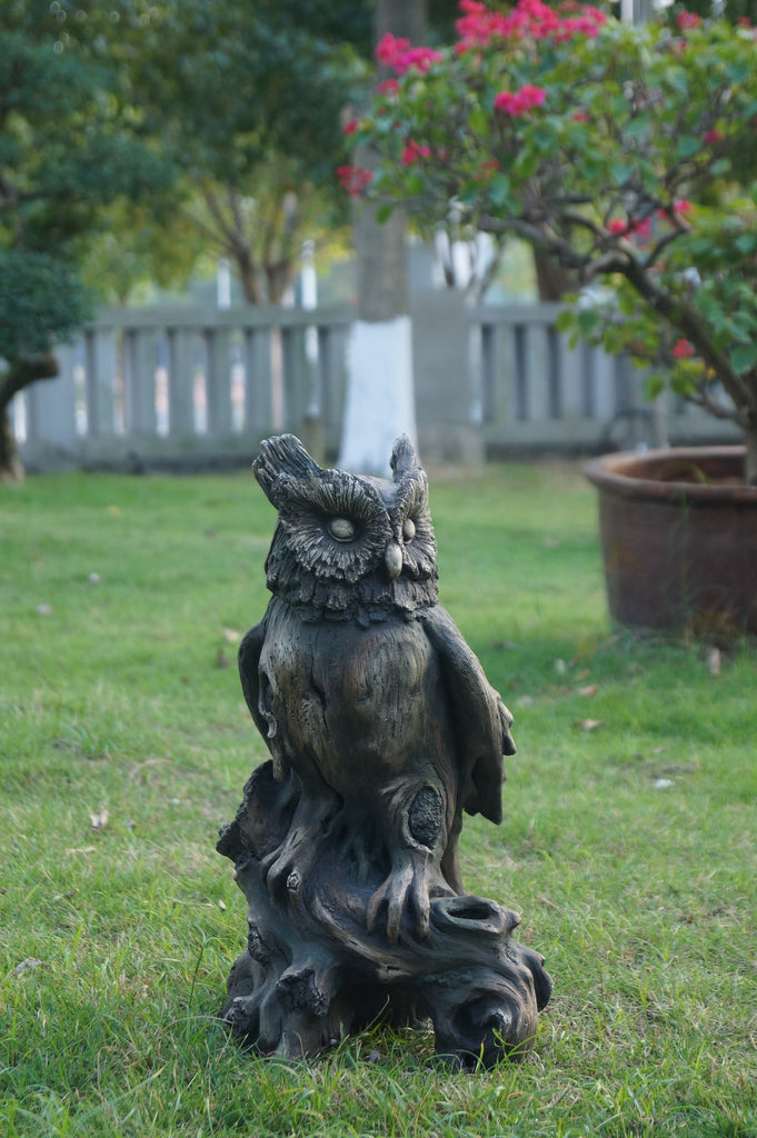 Owl Perched On Tree Trunk - Wood Finish LeFeet