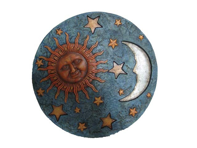 Stepping Stone with Sun, Moon and Stars