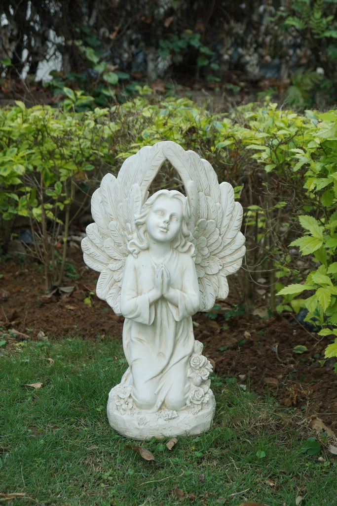 Angel Kneeling and Praying with Wings Up