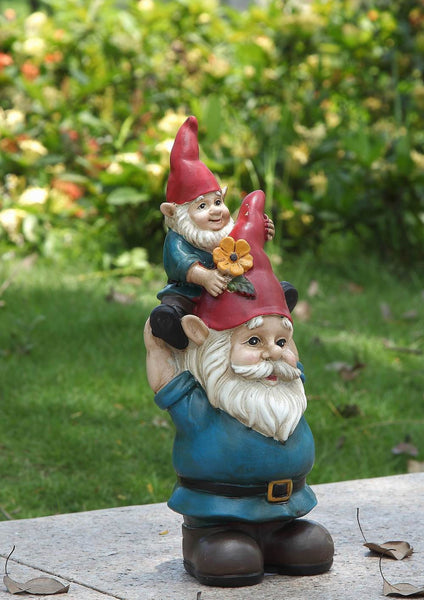 Gnome with Child On Shoulders