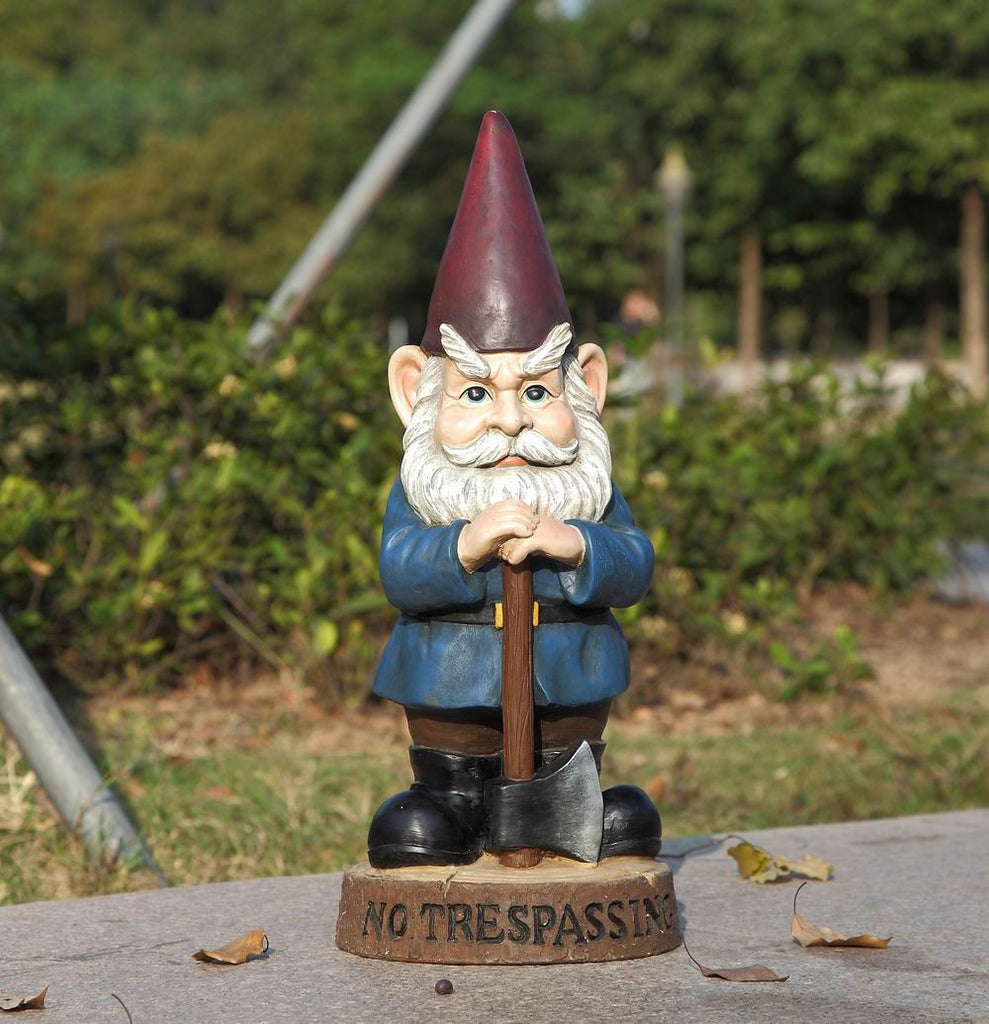 Gnome with Axe - No Trespassing