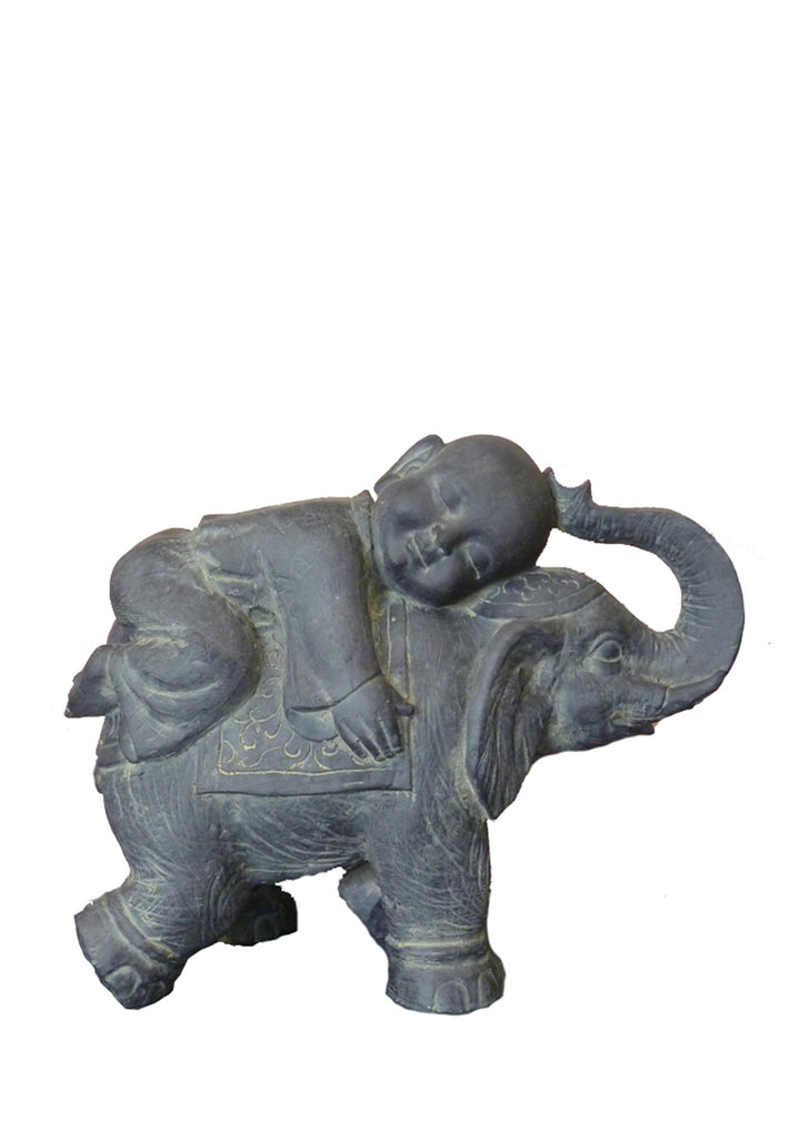 Child Buddha on Elephant Statue