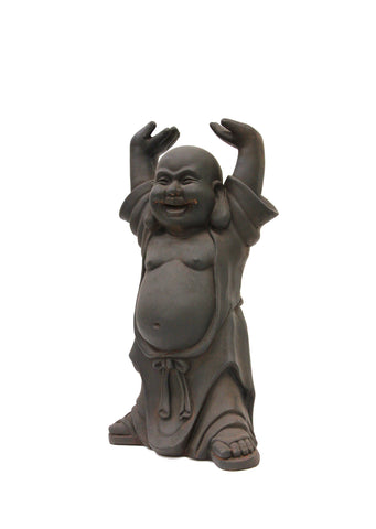 Laughing Buddha Statue with Hands Up