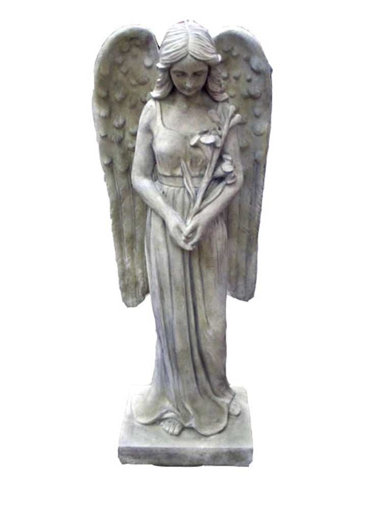 Standing Angel Statue Bowing in Prayer