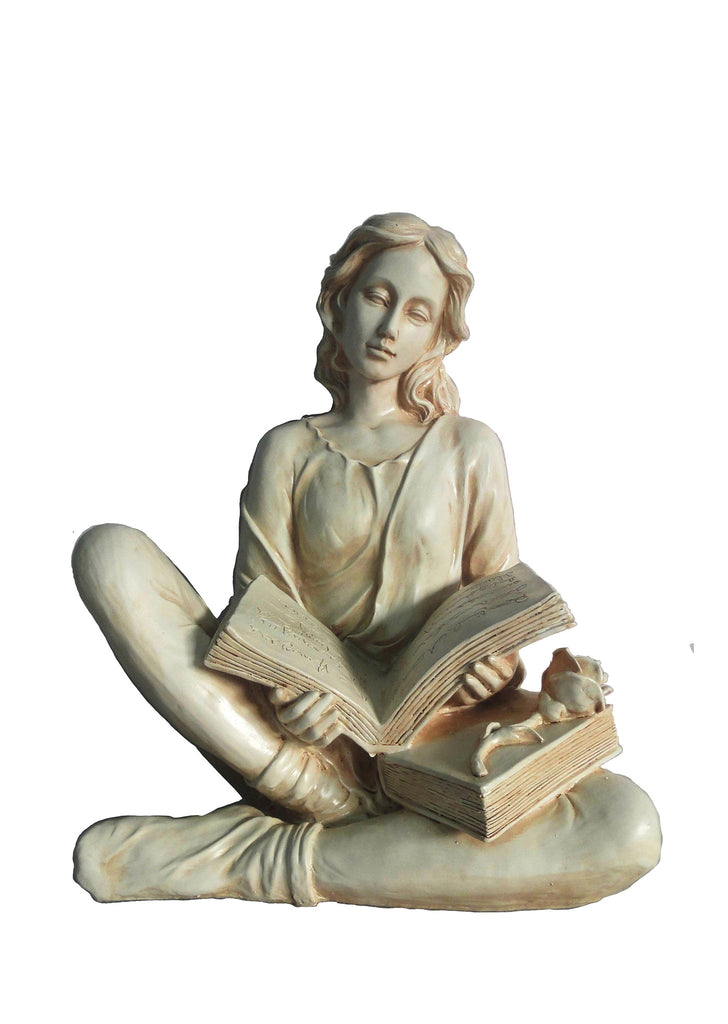 Reading Lady Garden Statue